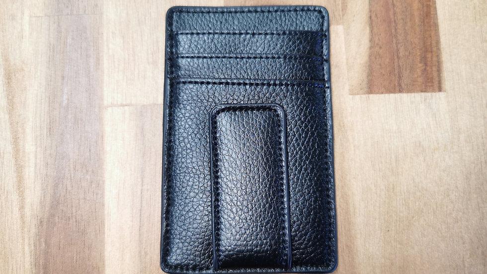 Leather Card holder& money clip