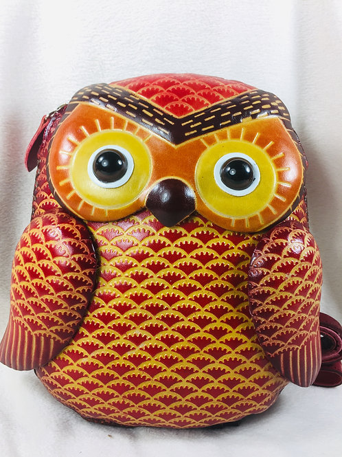 Big Red Owl Bag