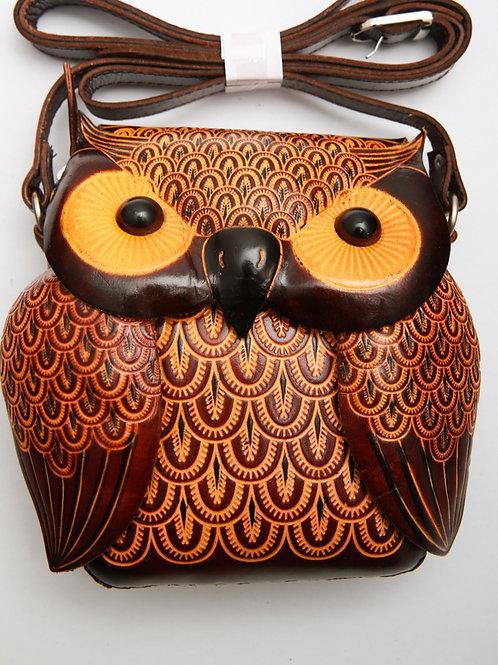 Short Coffee Owl Bag