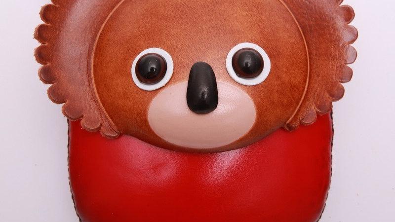 Short Red Koala Bag