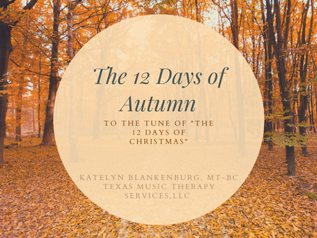 Sequencing Intervention: 12 Days of Autumn!