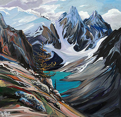 Moraine From The Top 36 x 36 SOLD