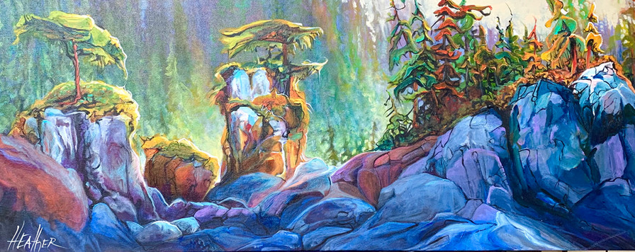 Where Time Stands Still 16 x 40 $2100