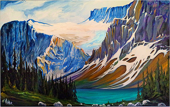 Lake Louise Northern View 30x48 SOLD