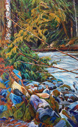 Pondering in Squamish 30 x 48 SOLD