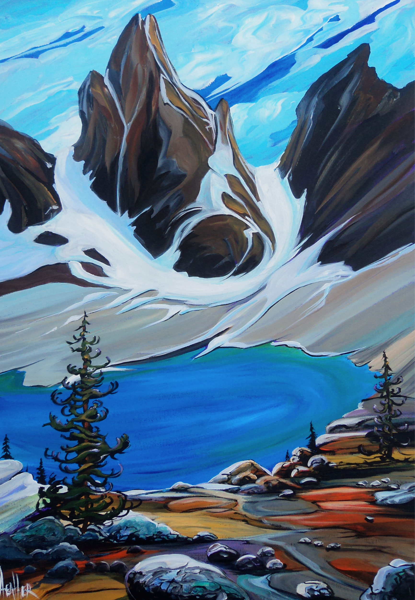 Afternoon at Lake Ohara 24 x 36 SOLD
