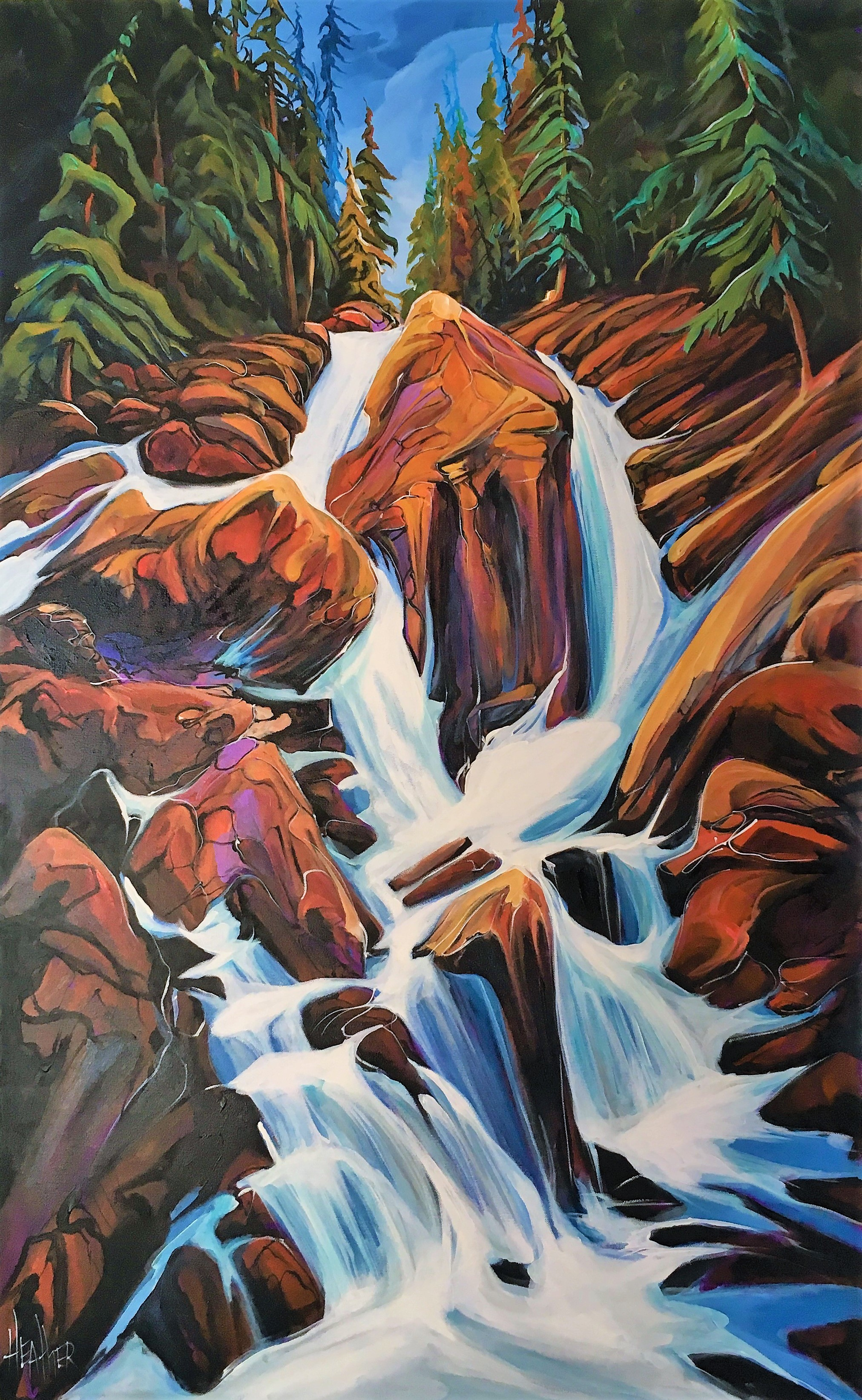 Sicamous Creek 30 x 48 SOLD