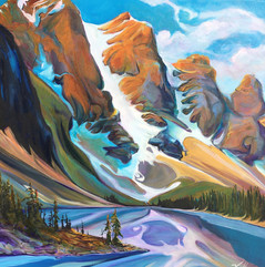 Moraine Lake Butterfly Kiss 24 x 24 SOLD
