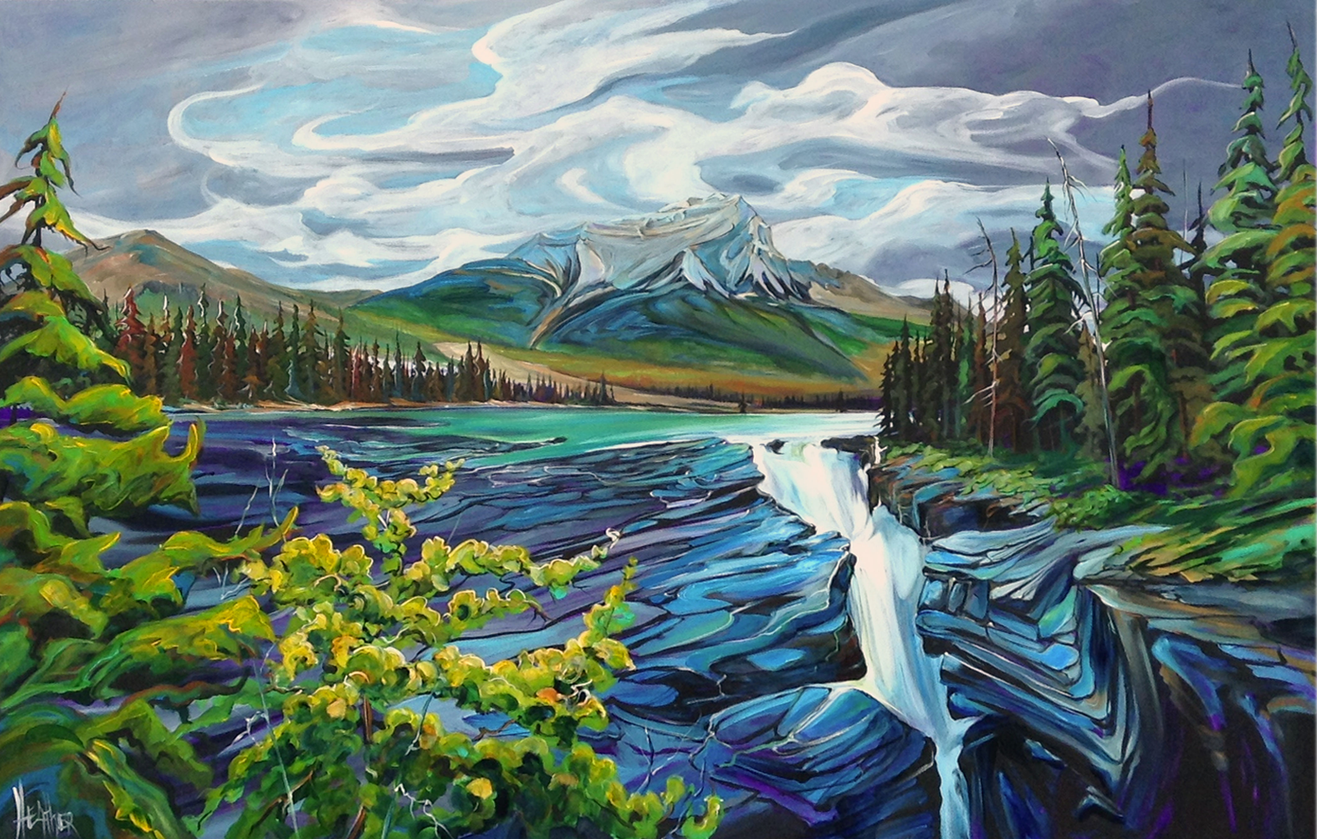 Heartbeat of Athabasca 72 x 48 SOLD
