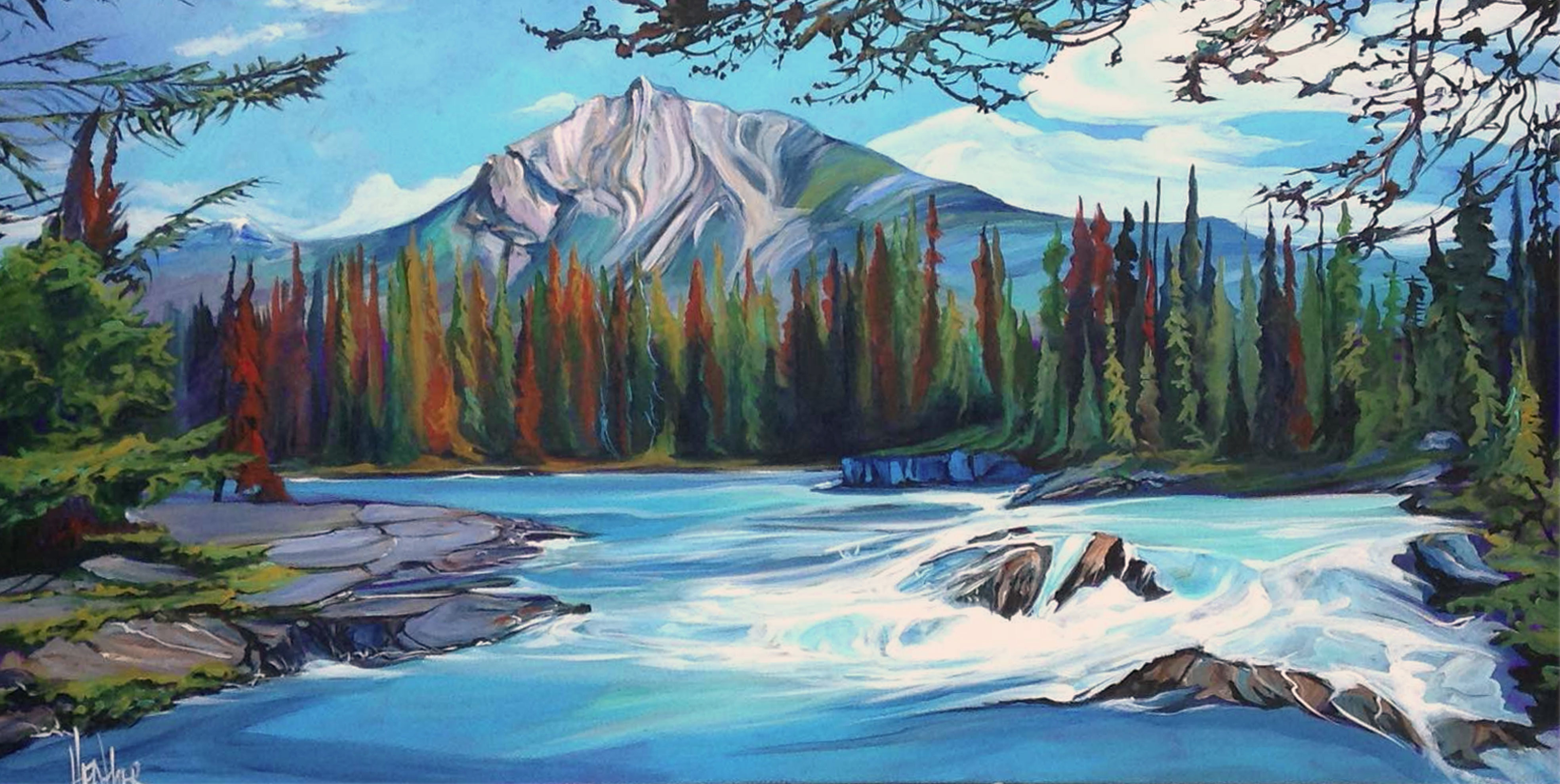 Mountain River Rhythm 24 x 48 SOLD