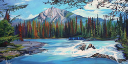 Mountain River Rhythm 24 x 48 SOLD