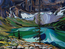Rawson Lake From The West 30 x 40