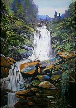 Waterfall Study 30 x 40 SOLD