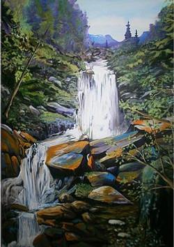 Waterfall Study 30 x 40 SOLD