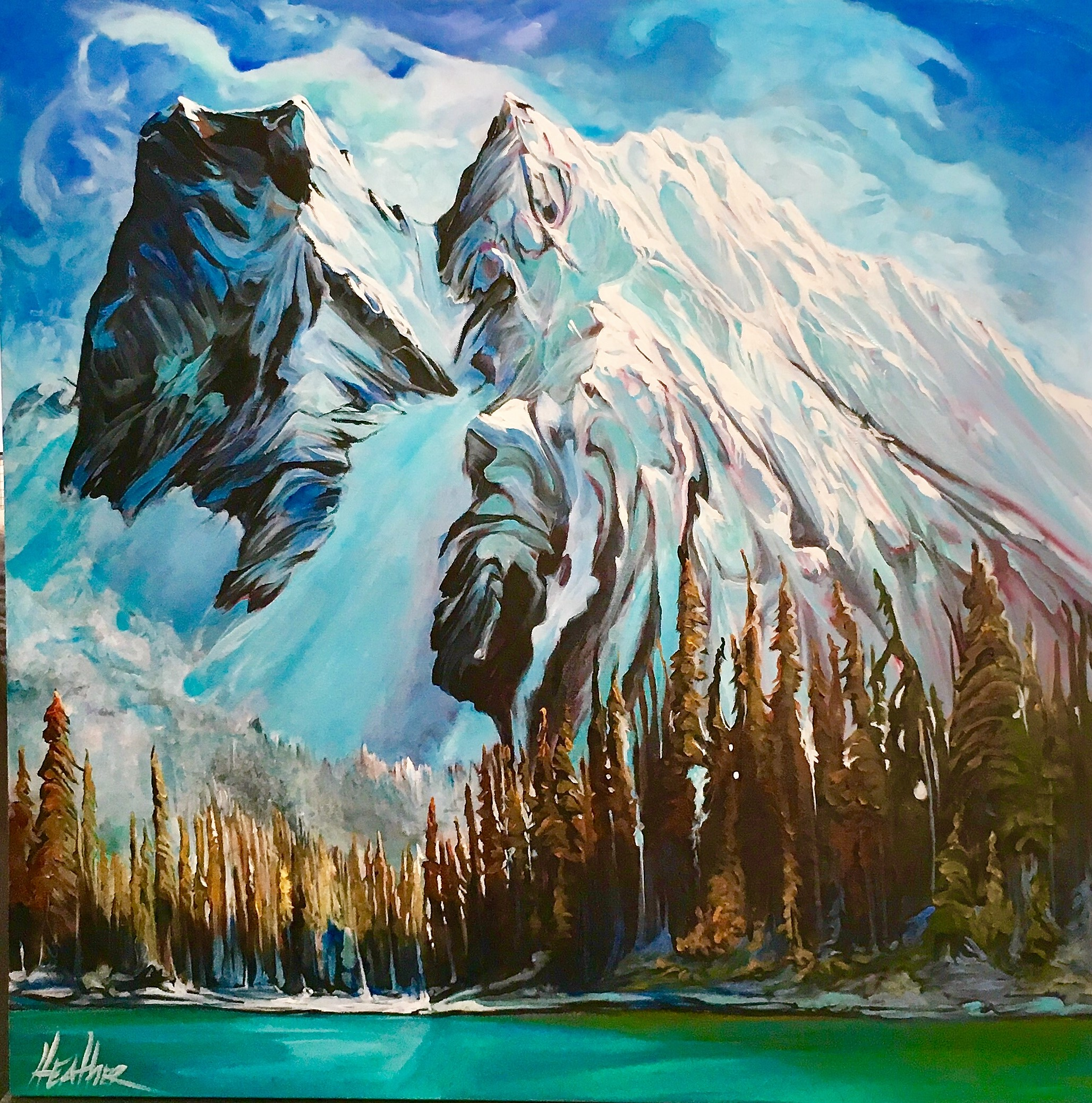 Emerald Lake Breathless 36x36 SOLD