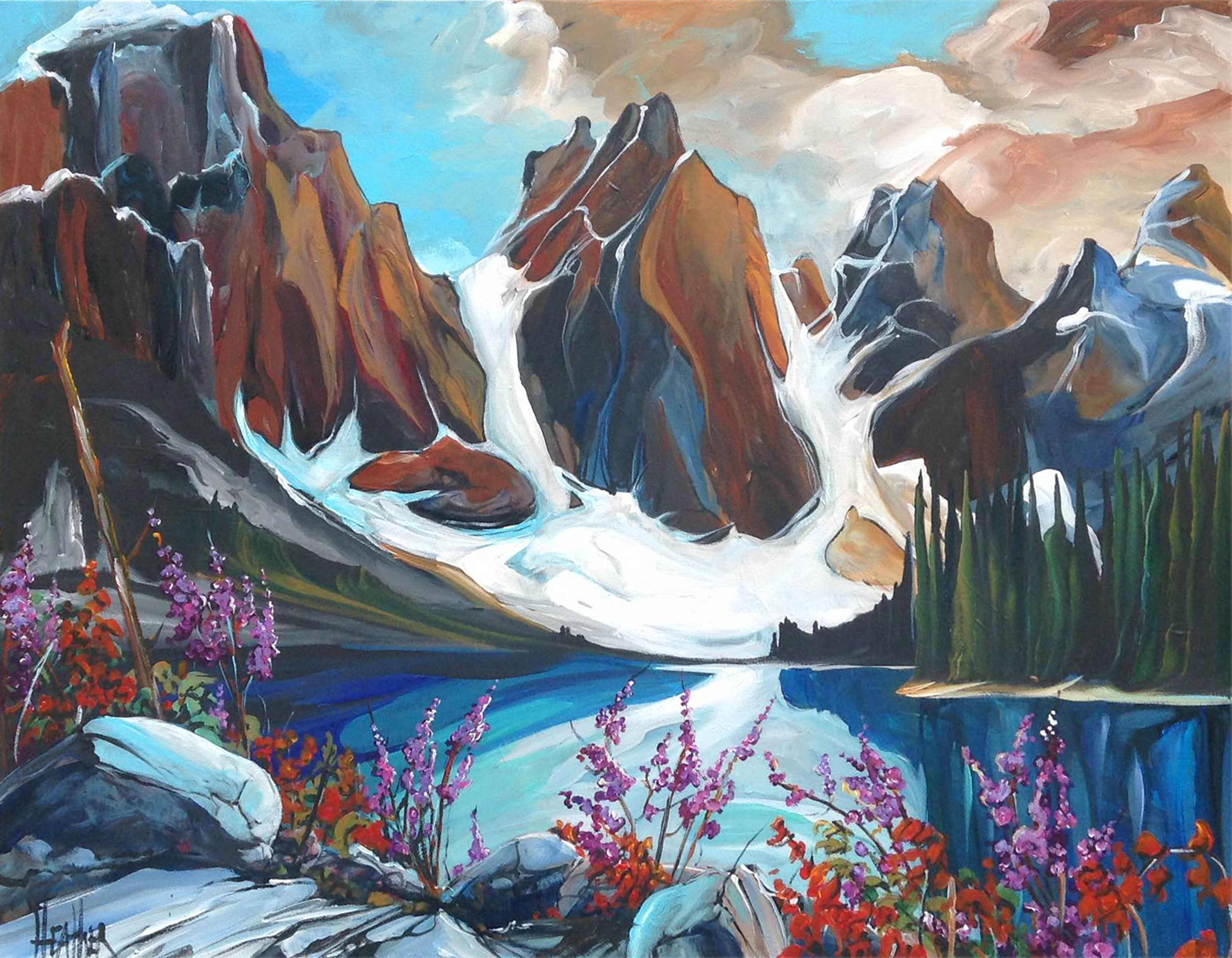 Spring Bloom at Moraine Lake...SOLD