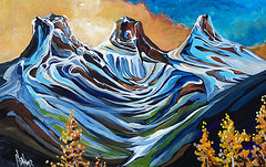 Three Sisters at Sunset 30 x 48 SOLD