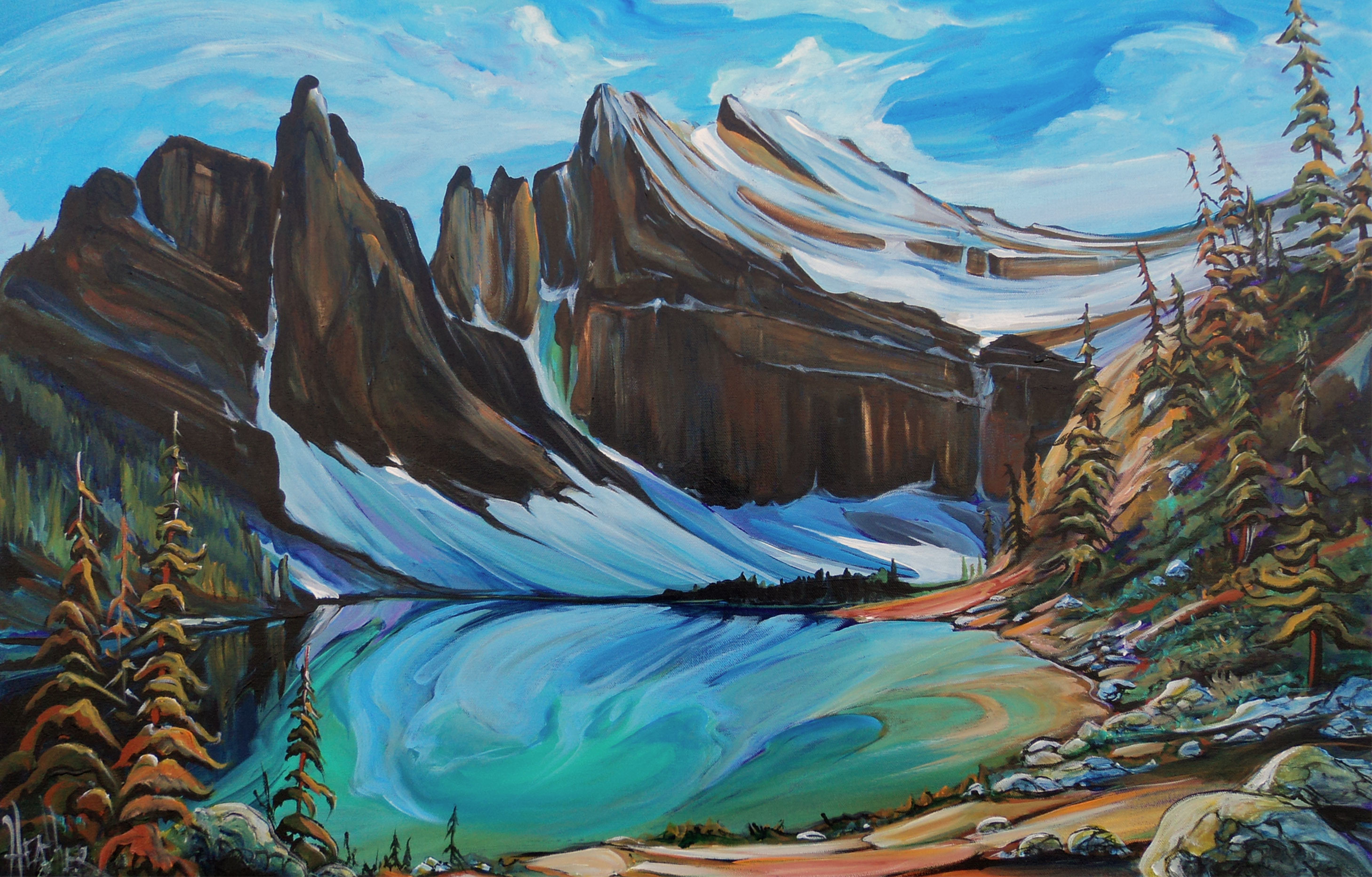 Lake Agnes Surreal 24 x 36