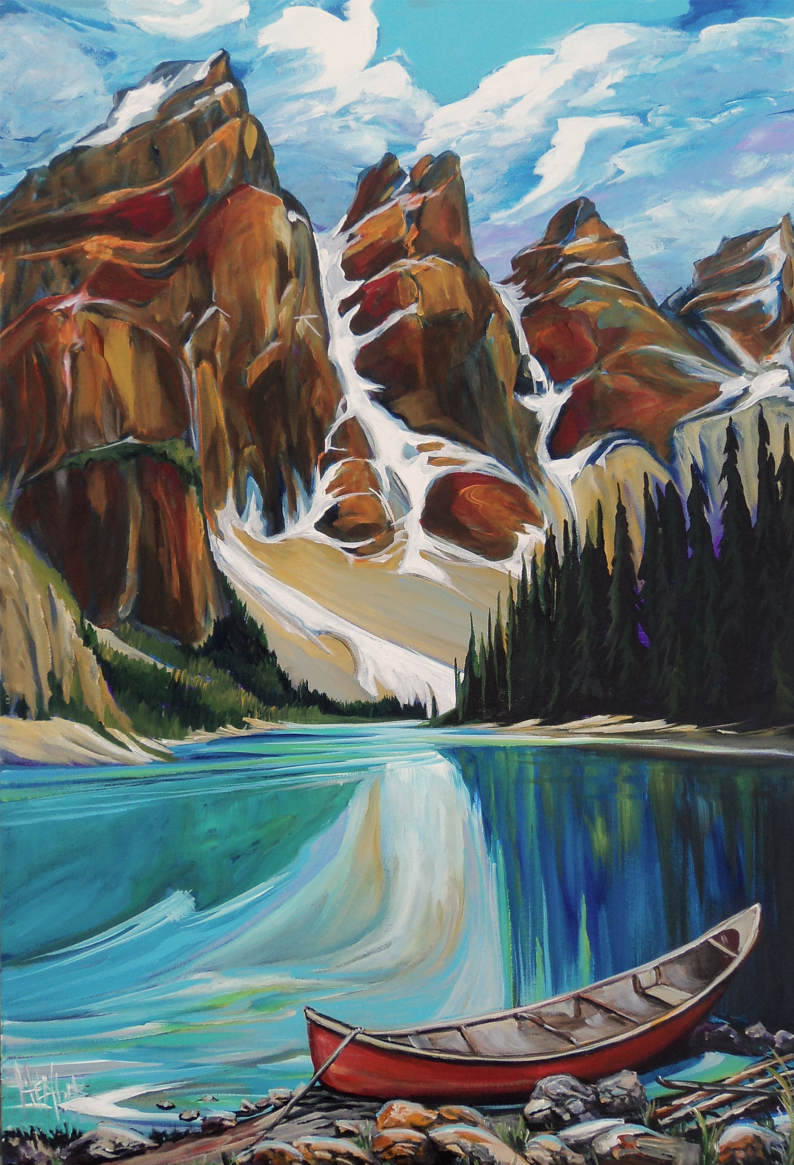 Moraine Equanimity 24 x 36 SOLD