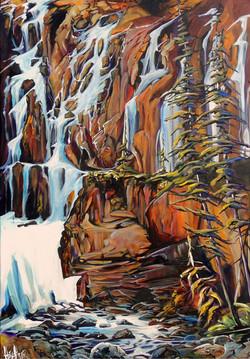 Tangle Falls Jasper 24x36 ...SOLD