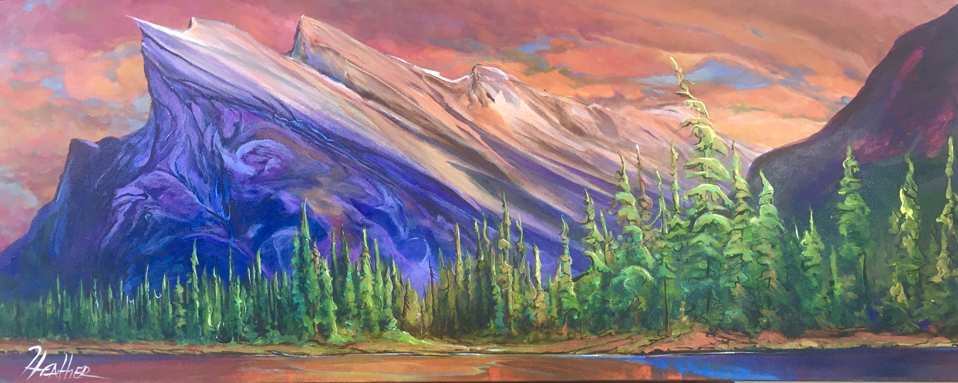 As Night Falls 16 x 40 SOLD