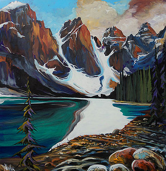 Magical Moraine Lake 36 x 36 SOLD