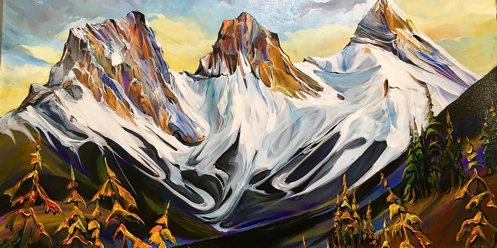 Majestic Mountains Acrylics Workshop
