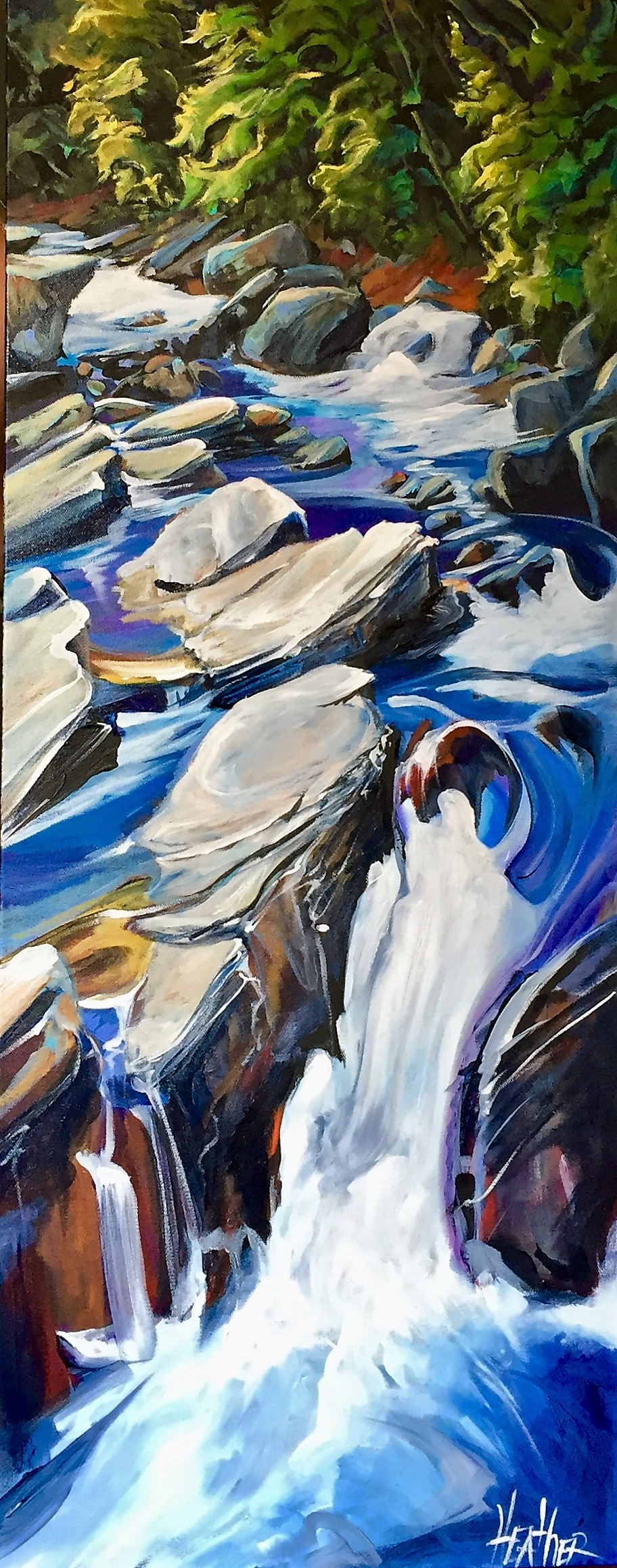 Comin Round the Mountain 16x40 $1900