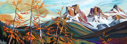 Dancing Larch Thee Sisters16x40 Sold