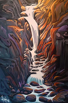 Rapturous Canyon Jasper 24 x 36 SOLD