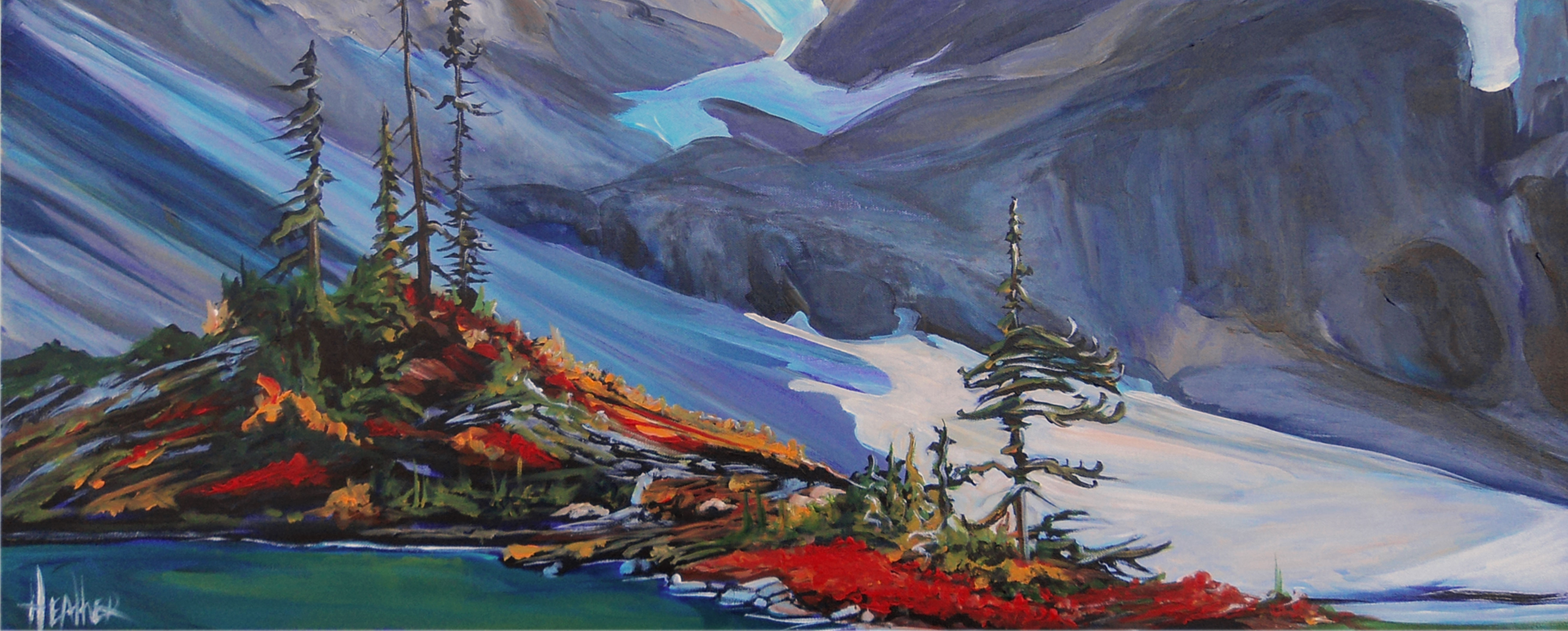 Edge of the Slope 16x40...SOLD