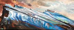 Mt. Rundle Sea Glass 16 x 40 $2100