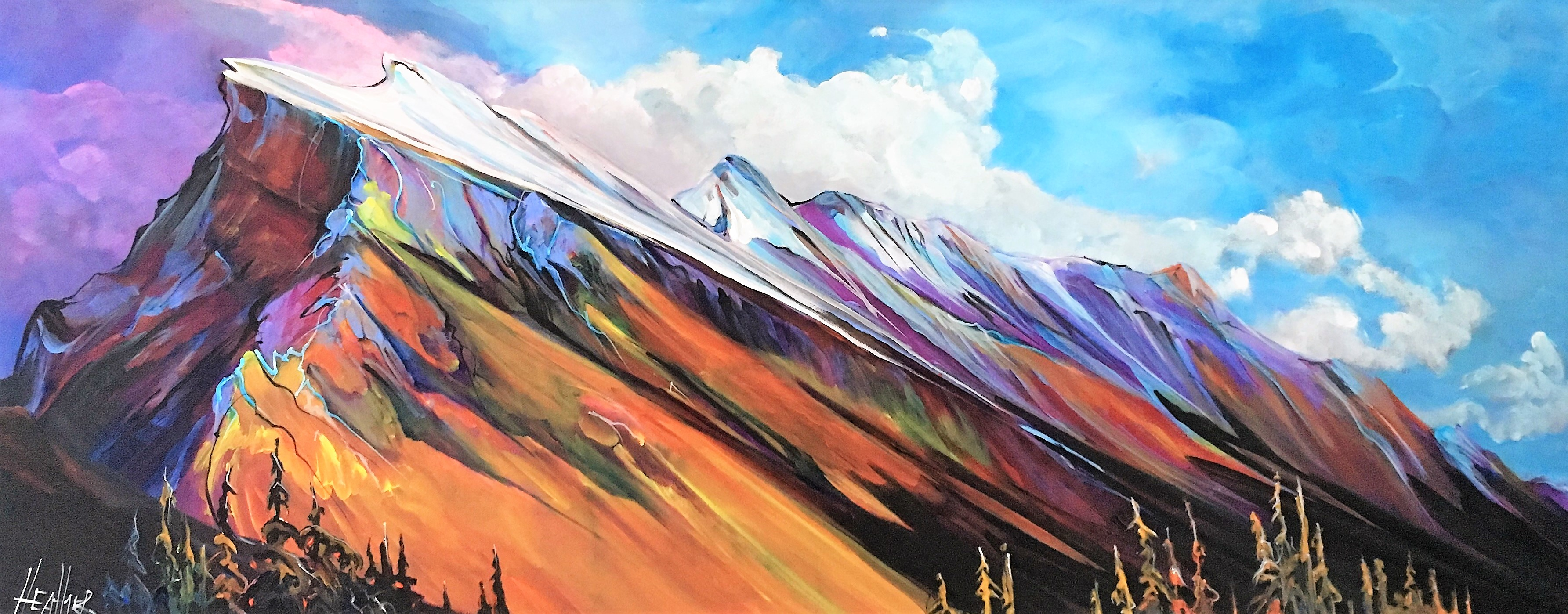 Colossal Mt. Rundle 16 x 40 SOLD