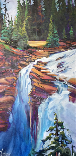 What a Wonder Athabasca Falls 15x30 SOLD