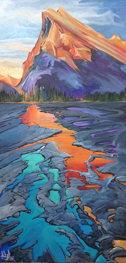 Sunset at Rundle 24 x 48