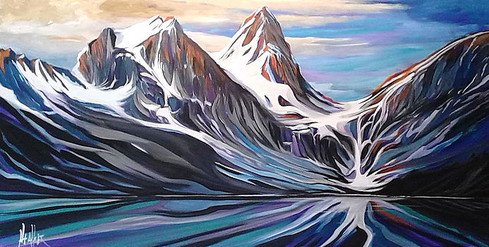 Mt. Assiniboine 24 x 48 SOLD