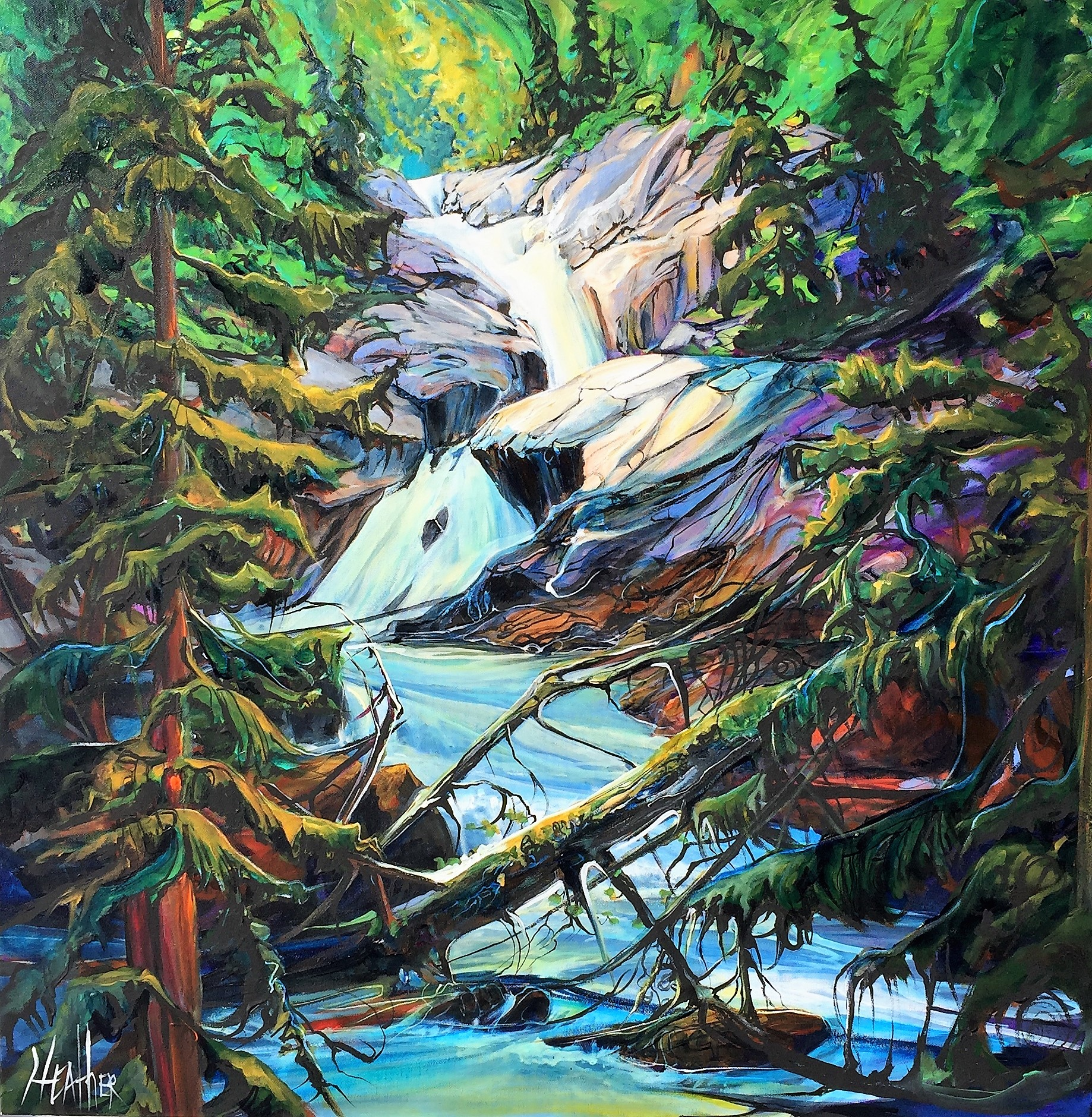 Spirit of the Stream 36 x 36 SOLD
