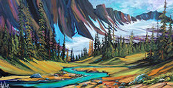 Upon a Banff Clearing 24 x 48 SOLD