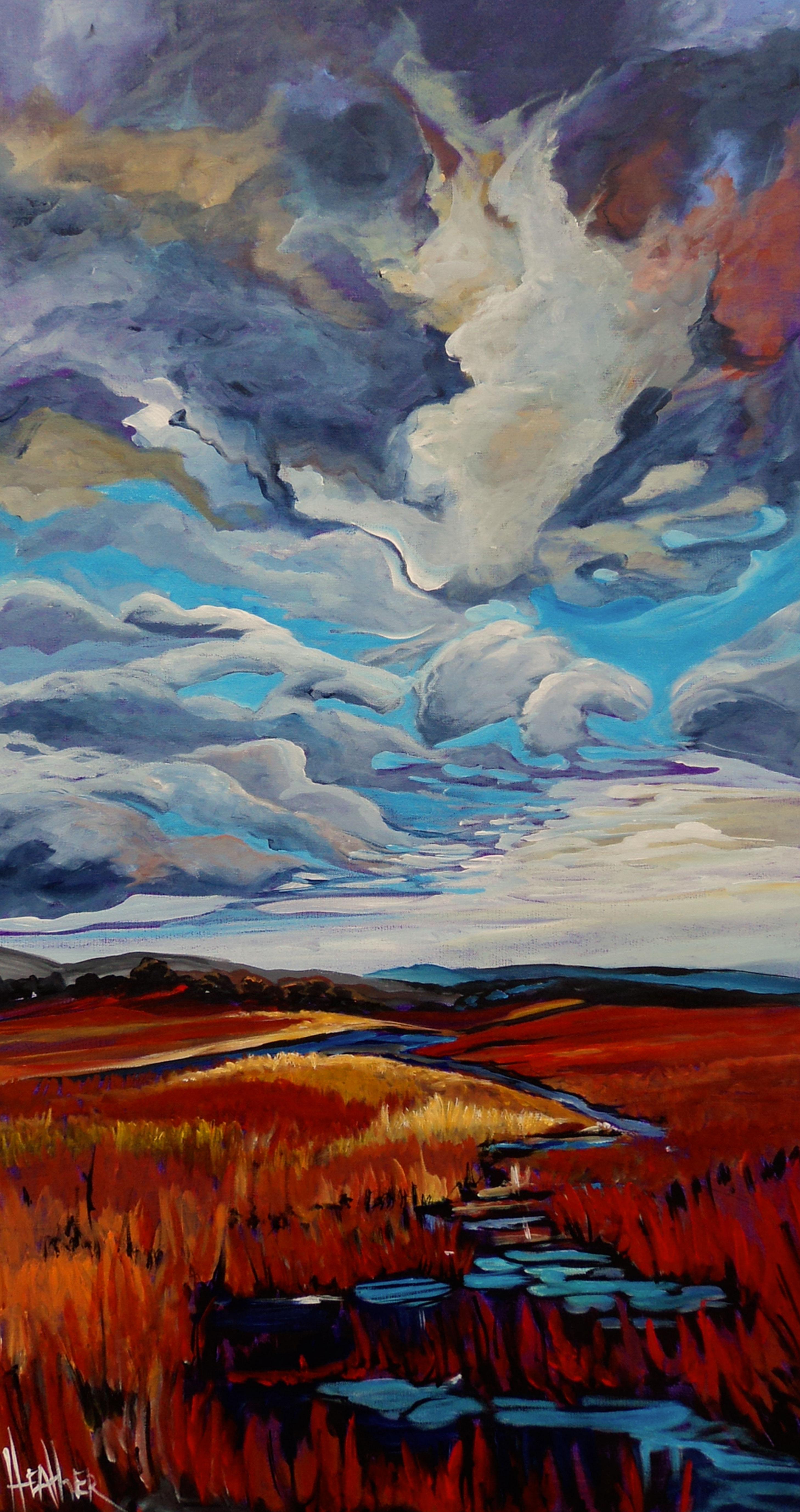 Prairie Storm 24 X 48 ...SOLD