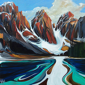 Moraine Lake In October 48 x 48 SOLD