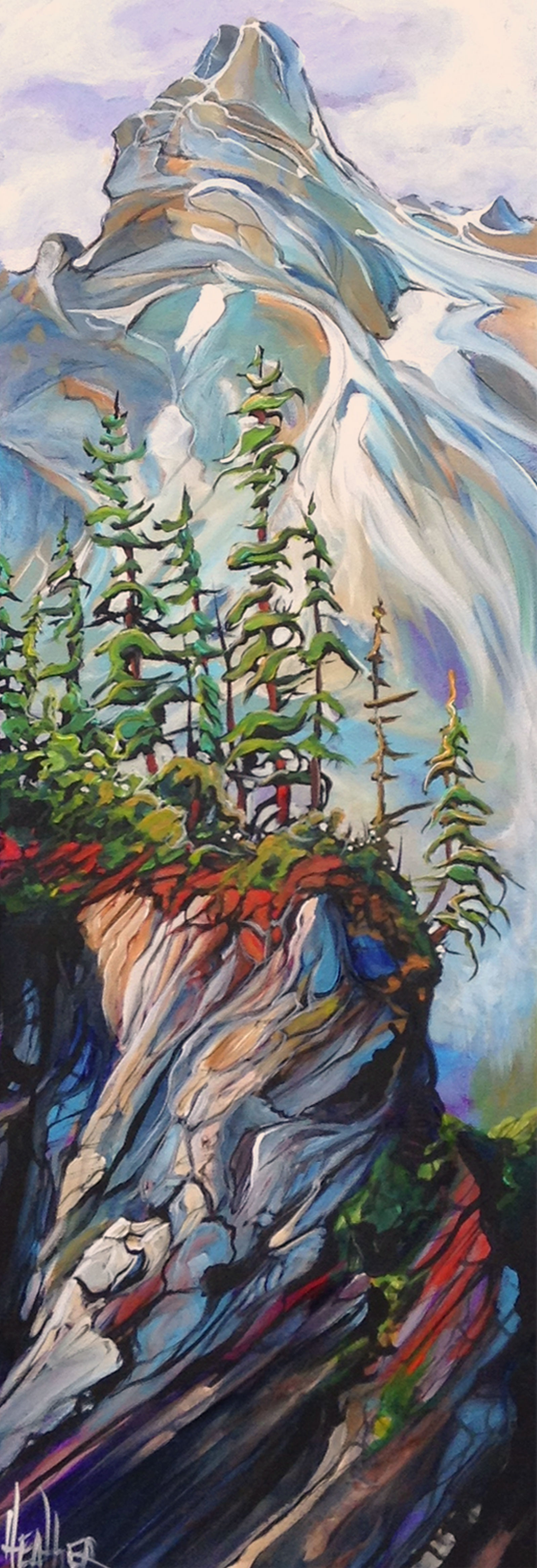 Cliff Hanger 12 x 36 SOLD