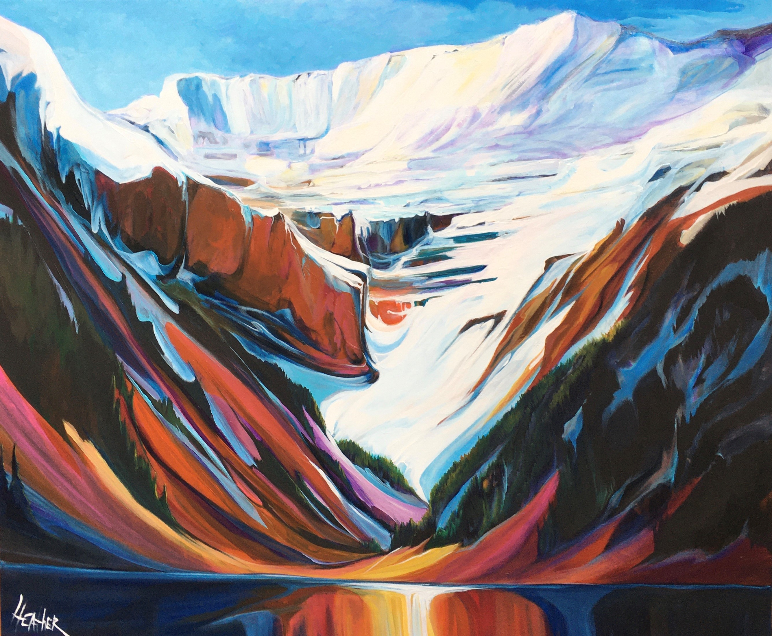 Lake Louise into the Pearl 46 x 48 $5750