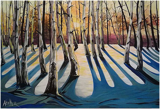 Sunset Birch 36 x 48 SOLD