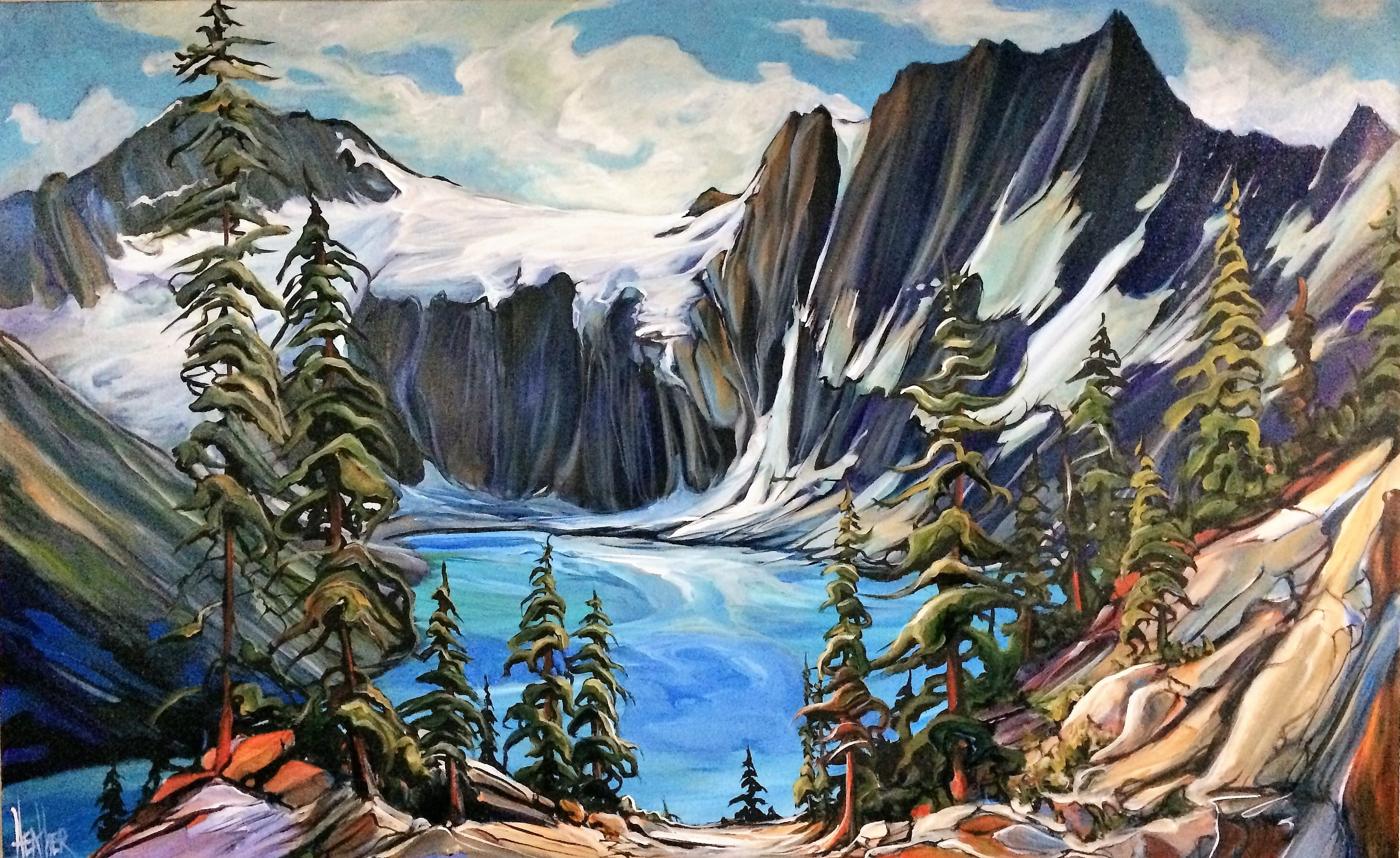 Lake of the Hanging Glacier 30 x 48