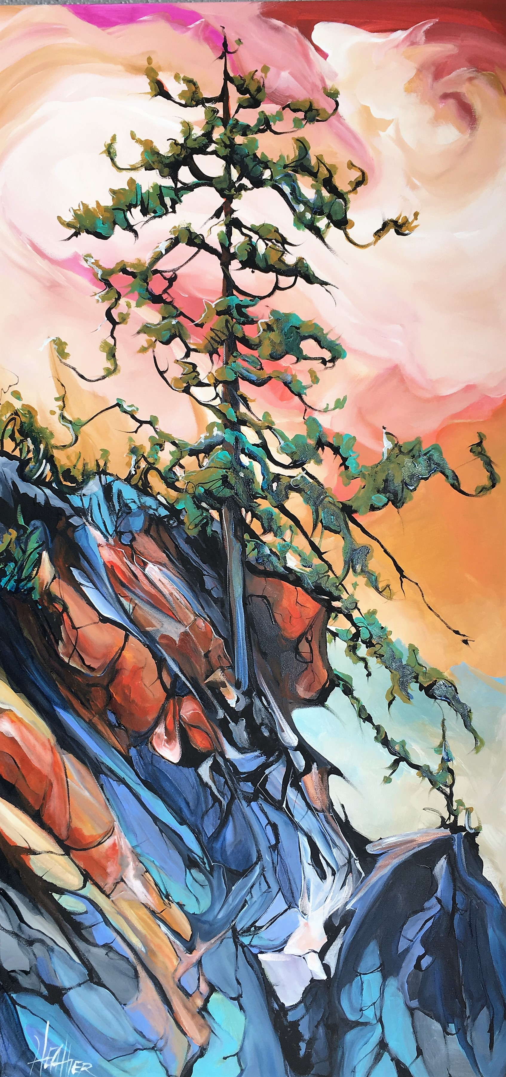 Tequila Sunrise 24 x 48 SOLD