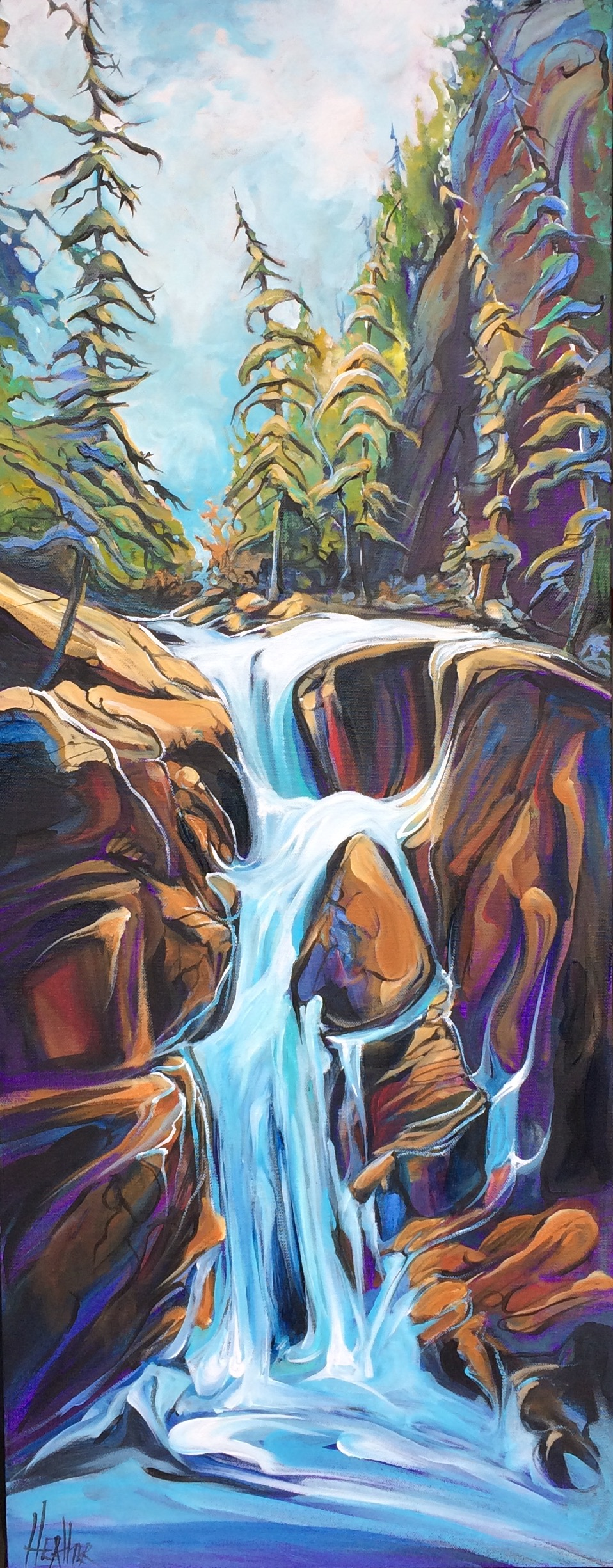 Once upon a Waterfall 16 x 40