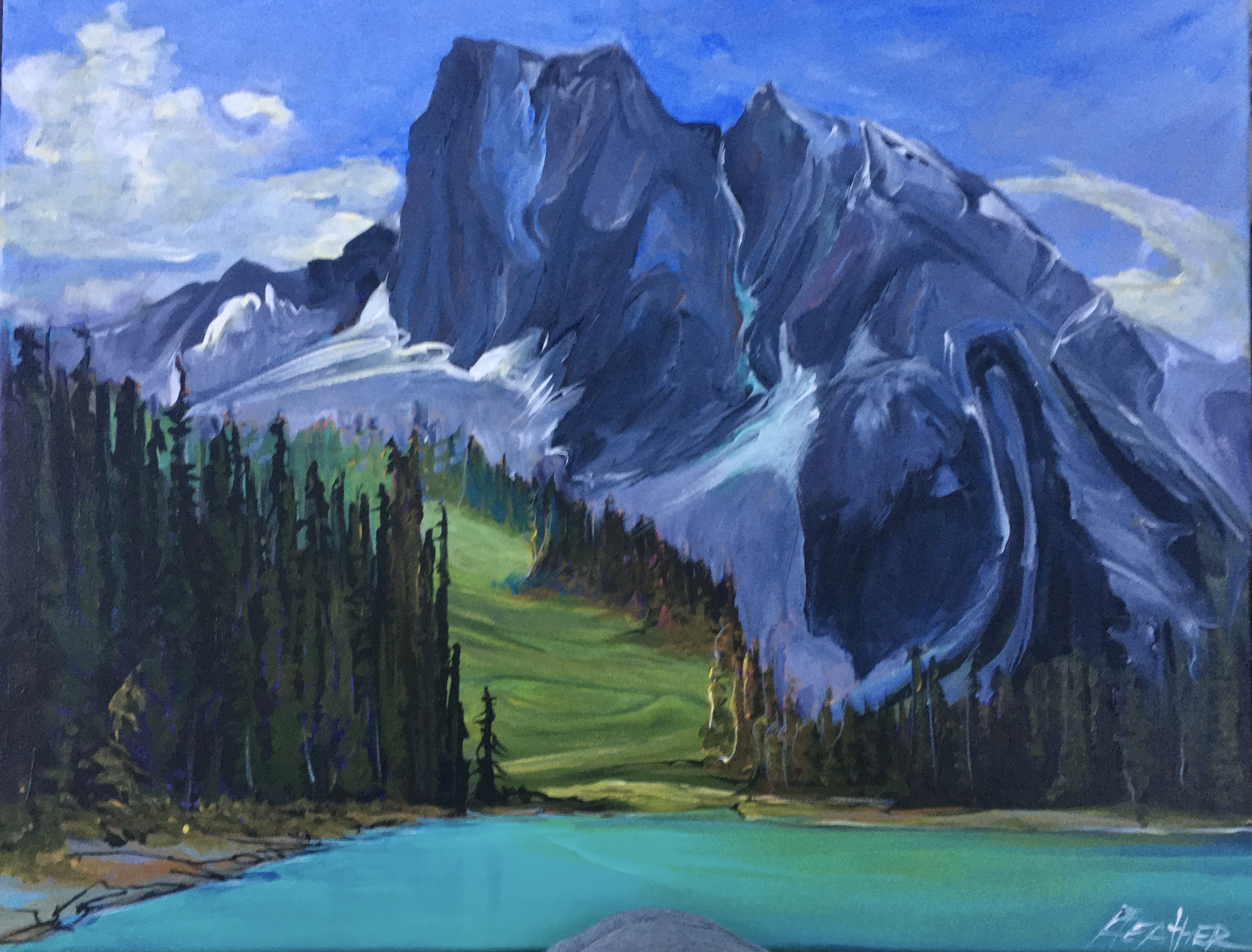 Emerald Lake Sunny Meadow 16 x 20 $990