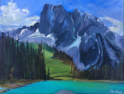 Emerald Lake Sunny Meadow 16 x 20 $990