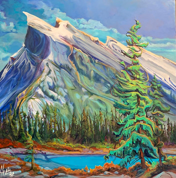 Enchanting Mount Rundle 36 x 36 $3600