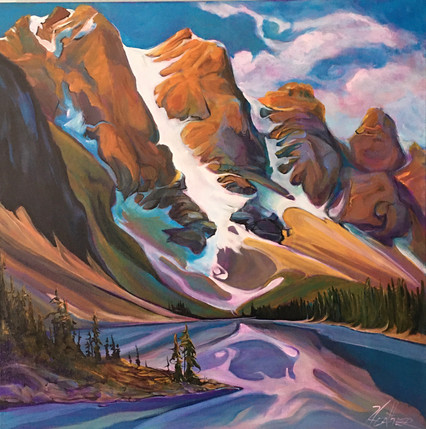 Moraine Lake Butterfly Kiss 24 x 24 $1800